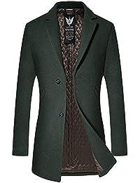 FOMANSH メルトン ウール コート メンズ チェスターコート ファッション 無地 トレンチコート カジュアル アウター 秋 冬 全4色 二つボタン 大きいサイズ