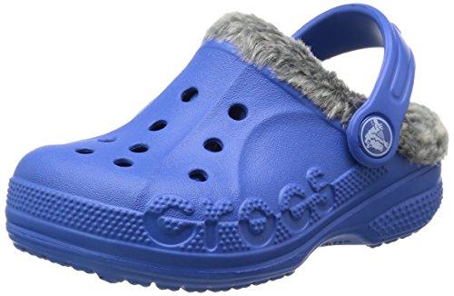 クロックス バヤ ヘザード ラインド クロッグ キッズ クロッグ 16171 sea blue charcoal C12/13 18.5cm