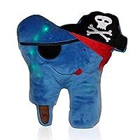 歯の妖精枕キット – LEDピンク枕 ポケット付き / FDA承認歯ブラシ2個 / 形見用歯箱 & 紛失証明書パッド – 女の子へのギフトに最適 – 電池付属 ブルー ZTFP-1
