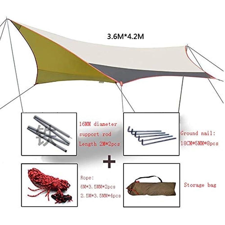 繕う閲覧する財団JIANFEI 天幕 キャンプ テント タープ屋外キャンプ ビーチピクニック 防水 、2つのサイズ (Color : A, Size : 360x420cm)