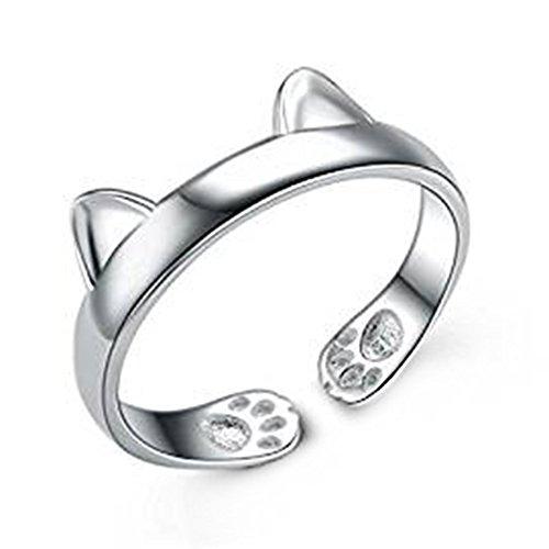 [해외]무상 반지 여성 반지 고양이 귀 결혼식 손 장식 선물 패션 간단한 연인 커플 반지 결혼 생일 선물 기념일 프리 사이즈 조절 가능/No Brand Ring Ladies Ring Cat Ear Wedding Hand Decorative Present Fashion Simple Lover Couple Ring Engagement ...