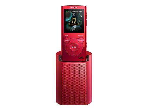 SONY ウォークマン Eシリーズ [メモリータイプ] スピーカー付 2GB レッド NW-E062K/R