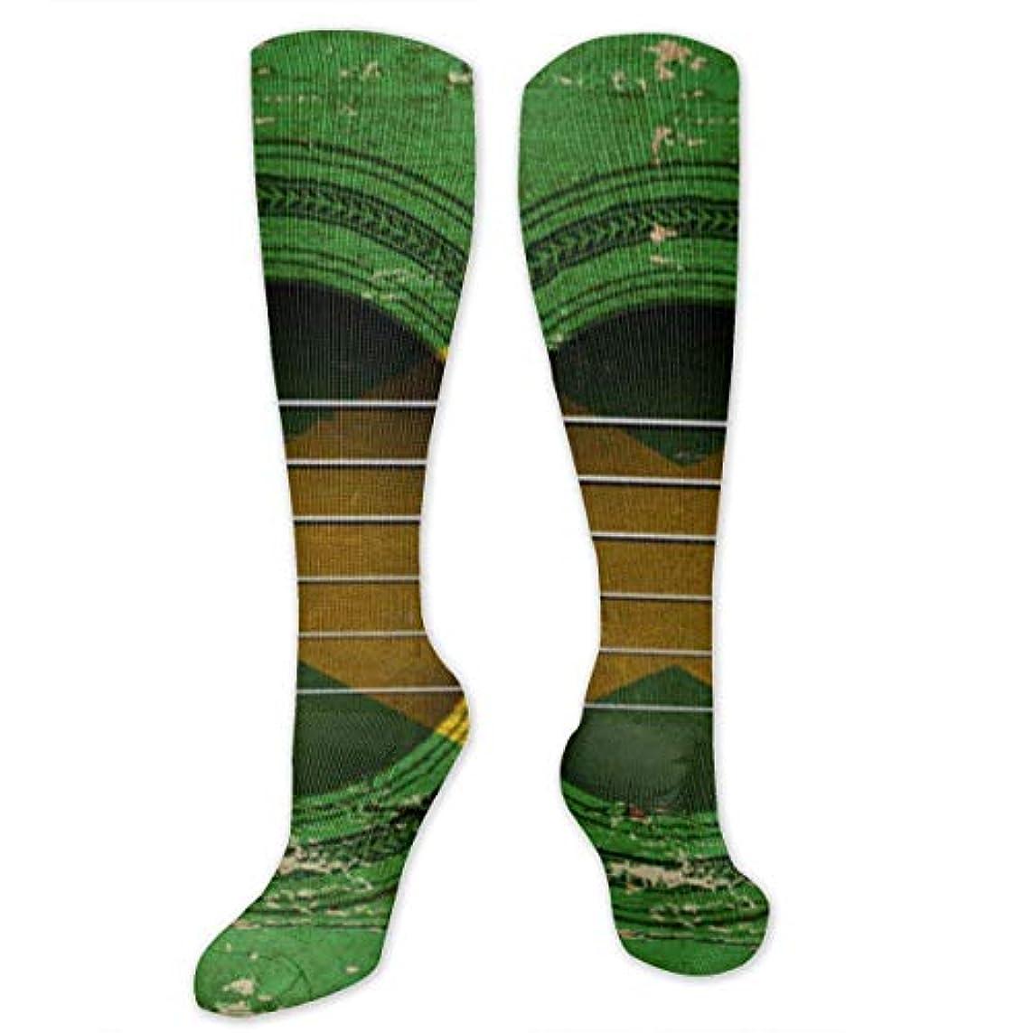 通訳損傷さわやか靴下,ストッキング,野生のジョーカー,実際,秋の本質,冬必須,サマーウェア&RBXAA Old Acoustic Guitar Socks Women's Winter Cotton Long Tube Socks Knee...