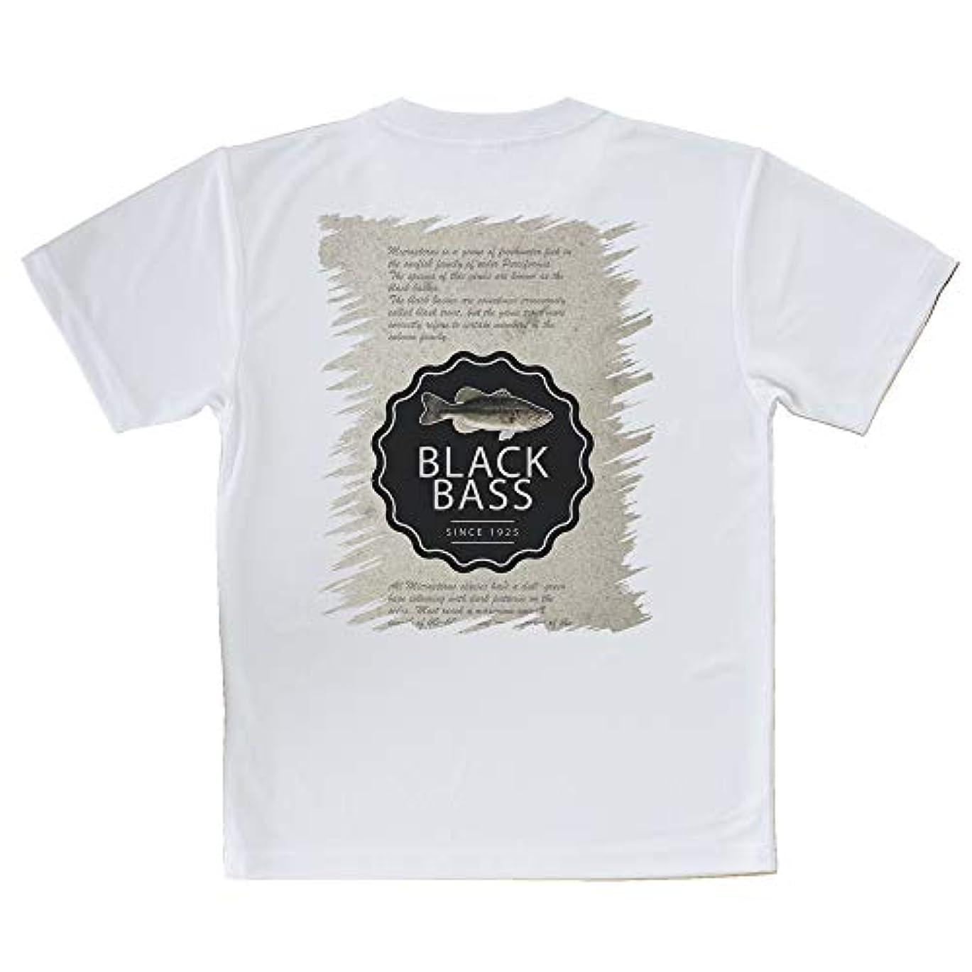 台風上がる行商AnglersLife Tシャツ ブラックバスの歴史 United Athle(ユナイテッドアスレ) ホワイト 白 ポリエステル100% 4.1oz UTF30