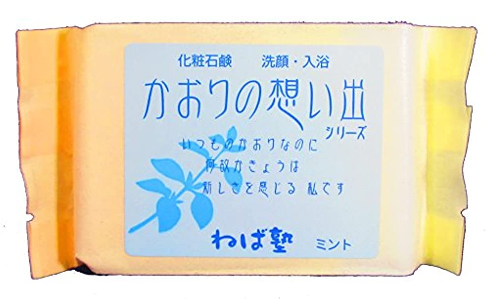 大きさ郵便カートリッジねば塾 化粧石けん かおりの想い出 ミント90g 5個セット