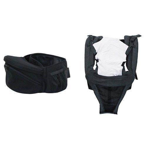 【セット買い】ラッキー工業 ポルバン POLBAN ウエストポーチ抱っこひも 本体 ブラック P7220+専用肩ベルト