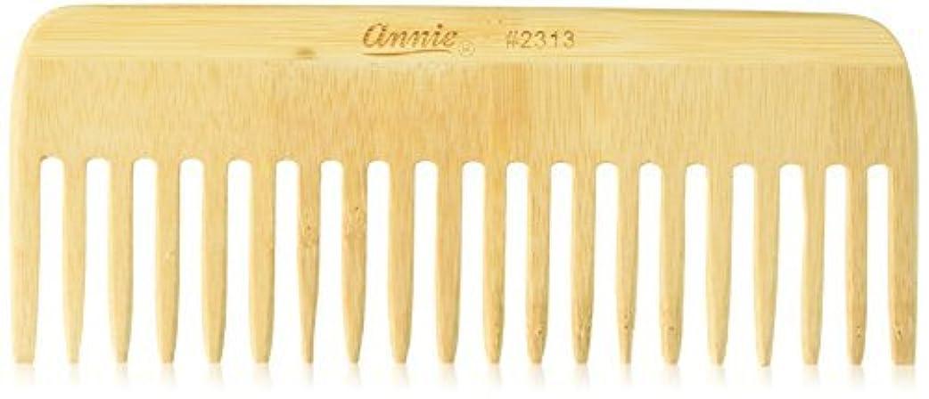 ちらつきミニチュア結晶Annie Bamboo Volume Comb, 7 Inch [並行輸入品]