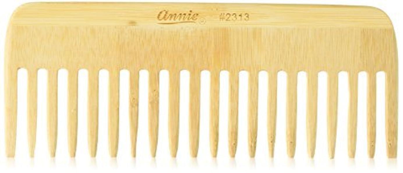 アブストラクトカラス世辞Annie Bamboo Volume Comb, 7 Inch [並行輸入品]