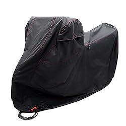 (オフフ) Ohuhu バイクカバー 大型 3Lサイズ バイク バイク用 カバー 高品質DTY 厚手 生地 防水 防犯 防風 UVカット 風飛び防止 収納袋付き