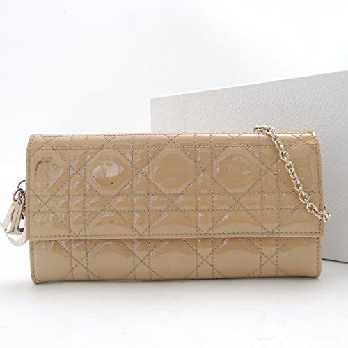 (ディオール)Dior 二つ折り財布(小銭入れあり)長財布 PVCレザー ベージュ 中古
