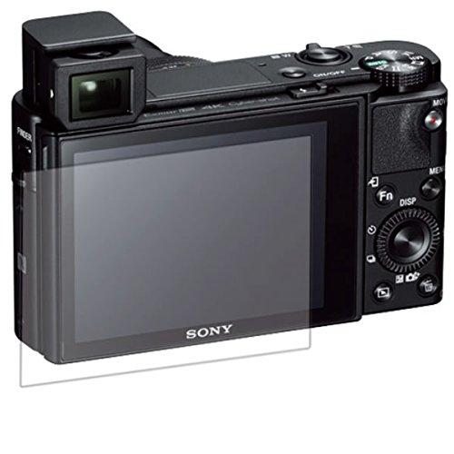 【2枚セット】 SONY デジタルスチルカメラ Cyber-shot DSC-RX100M5 用 液晶保護フィルム 超撥水で水滴を弾く!すべすべタッチの抗菌タイプ