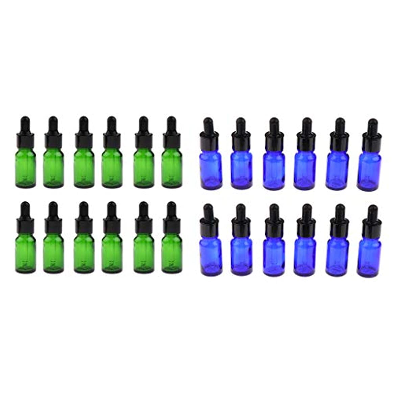 sharprepublic 5ml 10ml ガラスボトル 遮光ビン 精油瓶 アロマボトル 詰替え容器 化粧ボトル 約24個