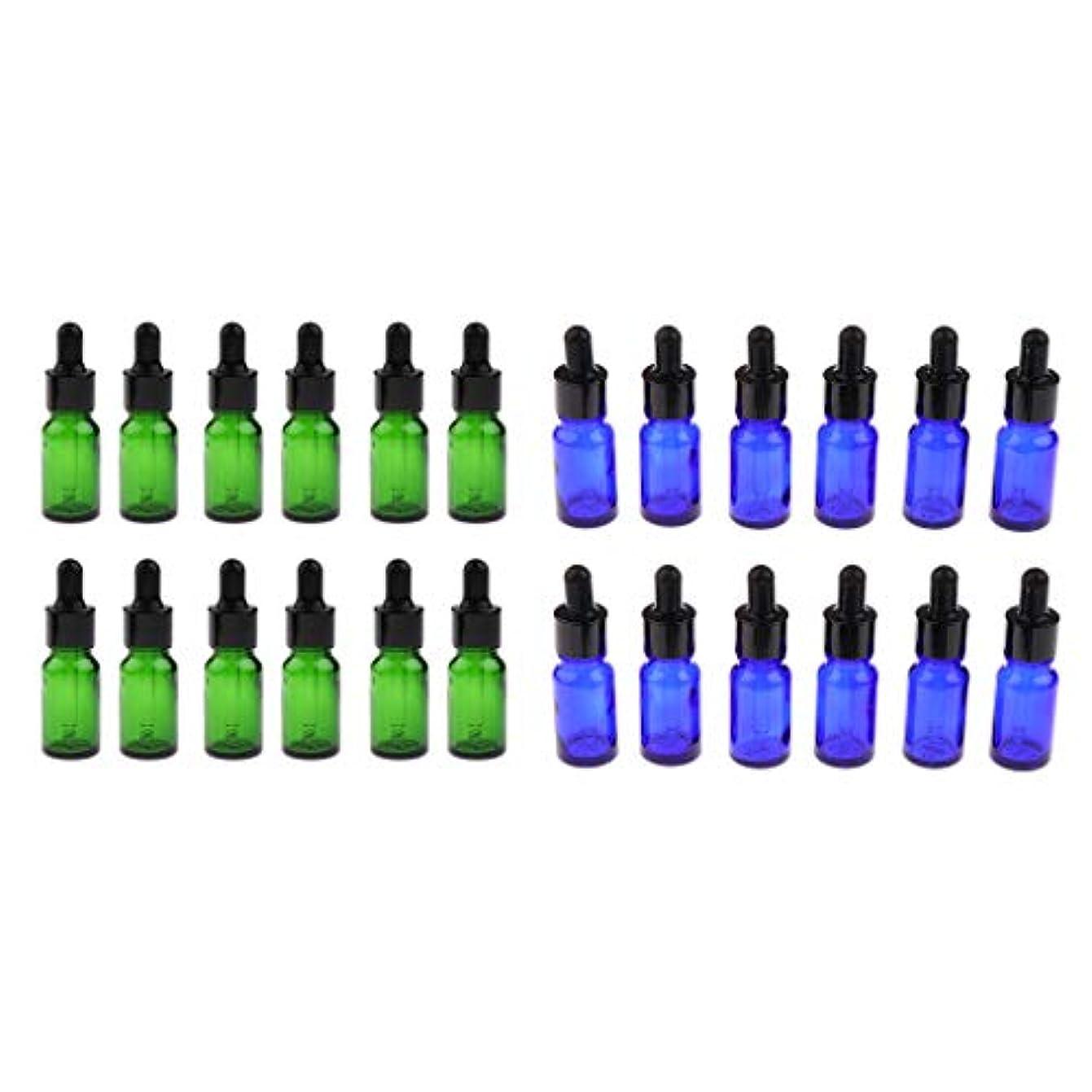 楕円形解放するスコアガラス瓶 アロマボトル 遮光ビン 精油瓶 5ml 10ml 詰替え容器 化粧ボトル 約24個