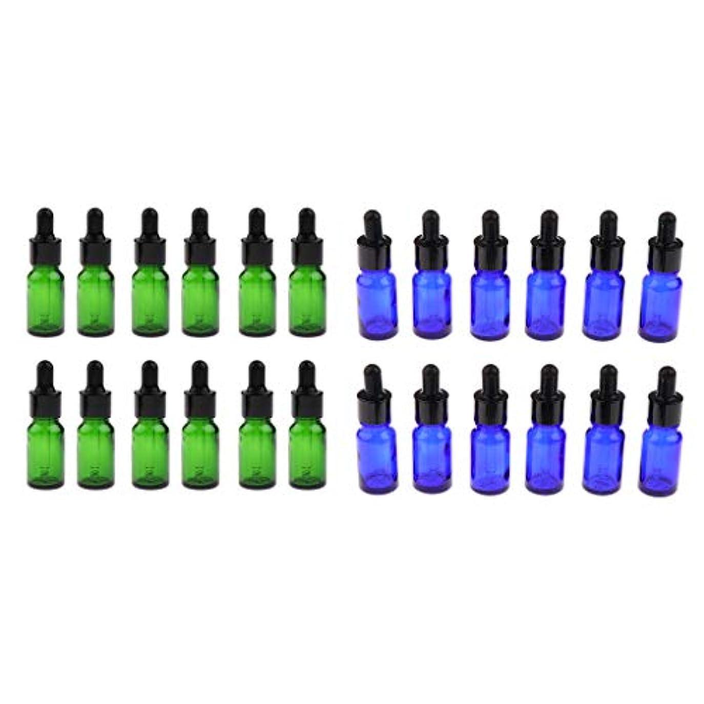 出くわす習慣ライオンガラス瓶 アロマボトル 遮光ビン 精油瓶 5ml 10ml 詰替え容器 化粧ボトル 約24個