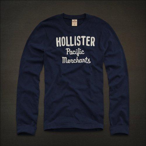 (ホリスター) Hollister ロングTシャツ Shell Beach 長袖 H-1022 Mサイズ D.BLUE (並行輸入品)