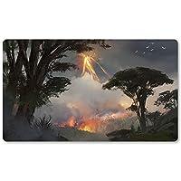 Dragons-of-Tarkir-Forest - ボードゲーム MTG プレイマット テーブルマット ゲーム サイズ 60X35 cm マウスパッド プレイマット 遊戯王 ポケモン マジック ザ・ギャザリング