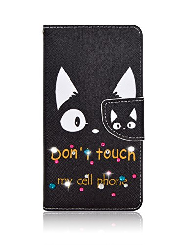 coco7-11 Sony Xperia Z5 (docomo:SO-01H)(au:SOV32)(softbank) 対応 手帳型 財布型 耐衝撃 軽量 お洒落 キラキラ可愛 レザーケース カバー スタンド機能 カードケース 革 シリコン製 スマホケース イラスト猫耳柄 ストラップホールあり (case2)