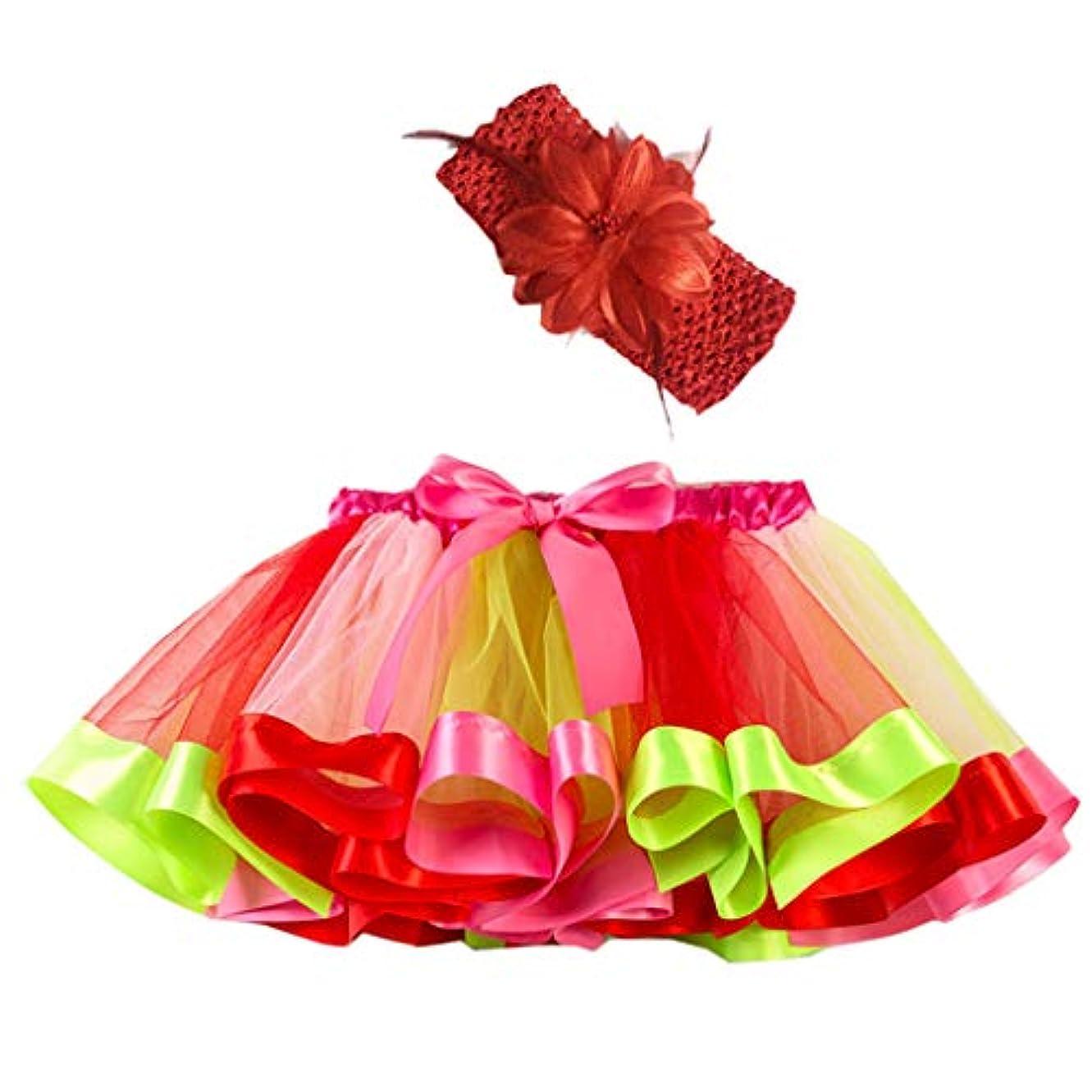 あなたが良くなります教授影響力のあるベビー ガールズ 虹糸 チュチュスカート カラフルパニエ バレエドレス 子供ドレスのアンダースカート チュールスカート ミニキッズ フリフリダンス衣装 結婚式 発表会 舞台 イベント 虹色 ベビーコスチュームスカート 幼児