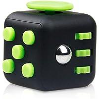 Fidget Cube フィジェットキューブ ストレス解消キューブ 不安 緊張 リリーフ 玩具(ブラック+グリーン)