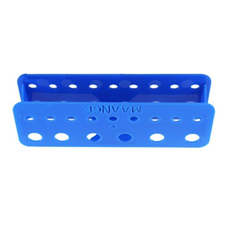 Perfk ブラシ取り 取り出し安い 收納 整理 ボックス ケース 15ホール 全4色 - 青