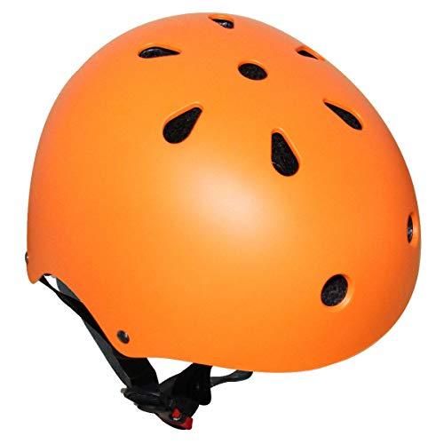 67i 自転車 ヘルメット 子供用 スケートボード アイススケート サイクリング 通学 スキー バイク 保護用ヘルメット 超軽量 サイズ調整可能 Sサイズ 48-54cm 護用ヘルメット (S, オレンジ)