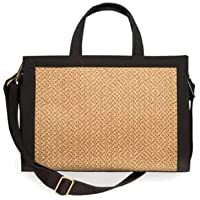 Eric Javits Luxury Fashion Designer Women's Handbag - Bancroft Tote - Natural/Black