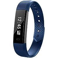 BluetoothのスマートバンドのハートレートモニターUSB充電式のスマートウォッチスポーツレコード歩数計カロリースリープ監視