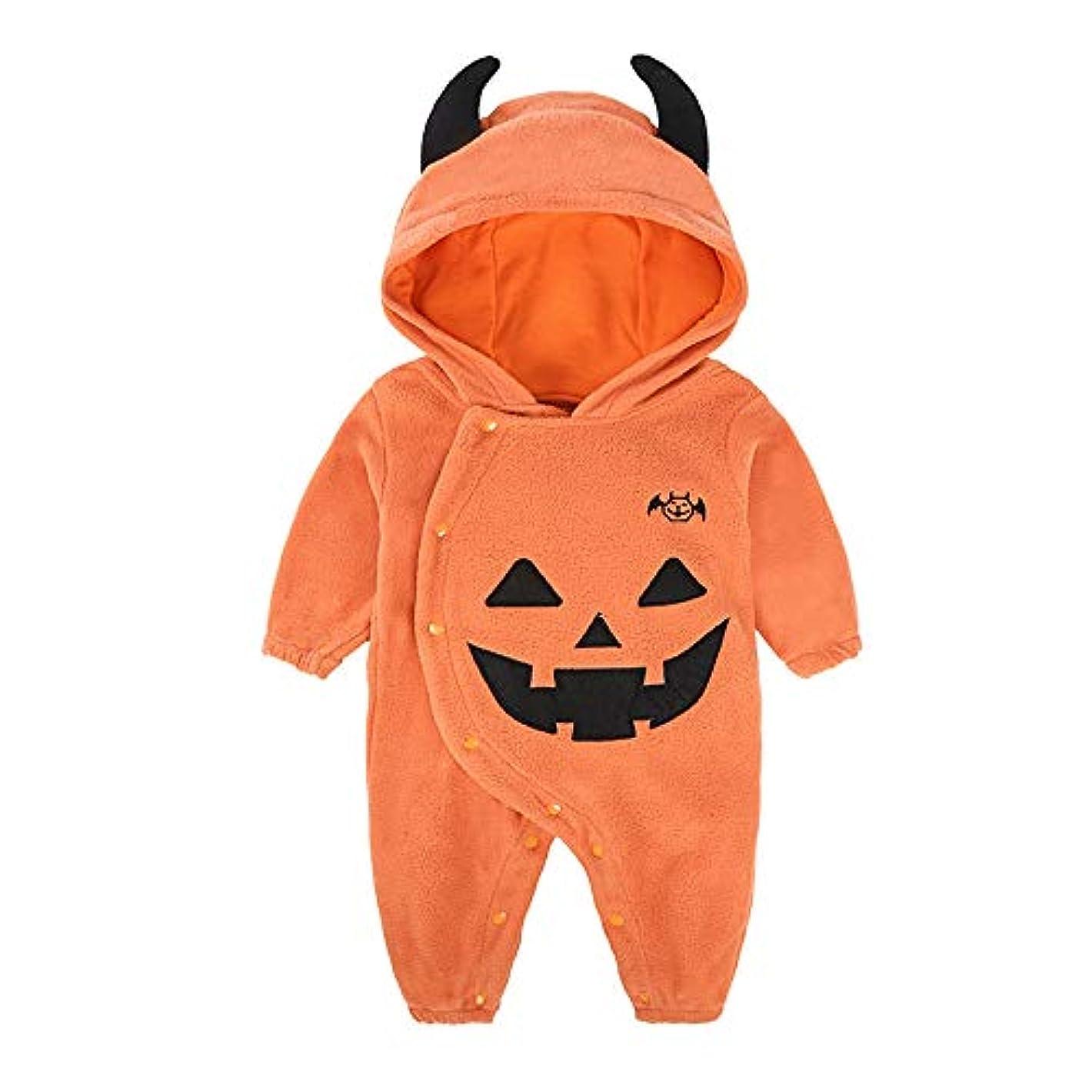 ペンスパーティー驚かす赤ちゃん男の子かぼちゃ服ハロウィーン3-packルーズパジャマコスチュームロンパース3-24ヶ月