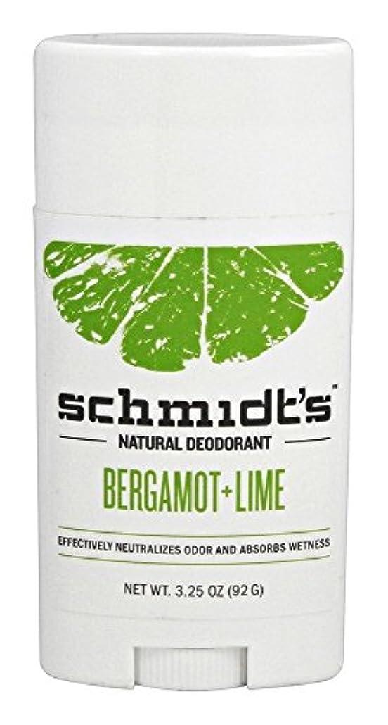 帆性別しなやかなSchmidt's Deodorant Stick BERGAMOT + LIME 3.25 oz シュミッツ デオドラント ベルガモット ライム 92g [並行輸入品]