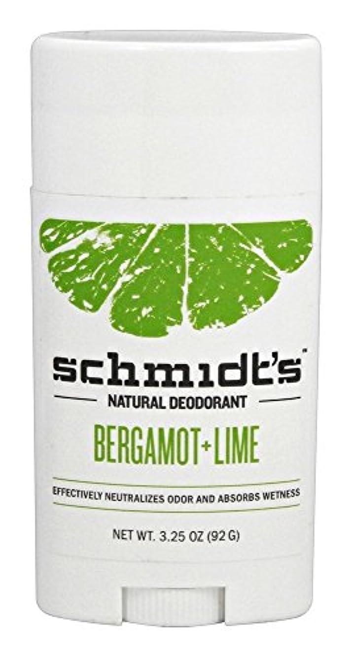 成功するメンター誰がSchmidt's Deodorant Stick BERGAMOT + LIME 3.25 oz シュミッツ デオドラント ベルガモット ライム 92g [並行輸入品]