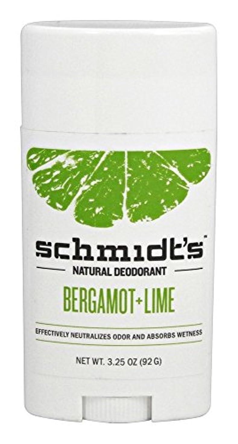 狂った抽出混合Schmidt's Deodorant Stick BERGAMOT + LIME 3.25 oz シュミッツ デオドラント ベルガモット ライム 92g [並行輸入品]