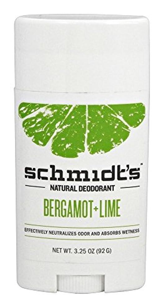 侵略庭園致命的なSchmidt's Deodorant Stick BERGAMOT + LIME 3.25 oz シュミッツ デオドラント ベルガモット ライム 92g [並行輸入品]