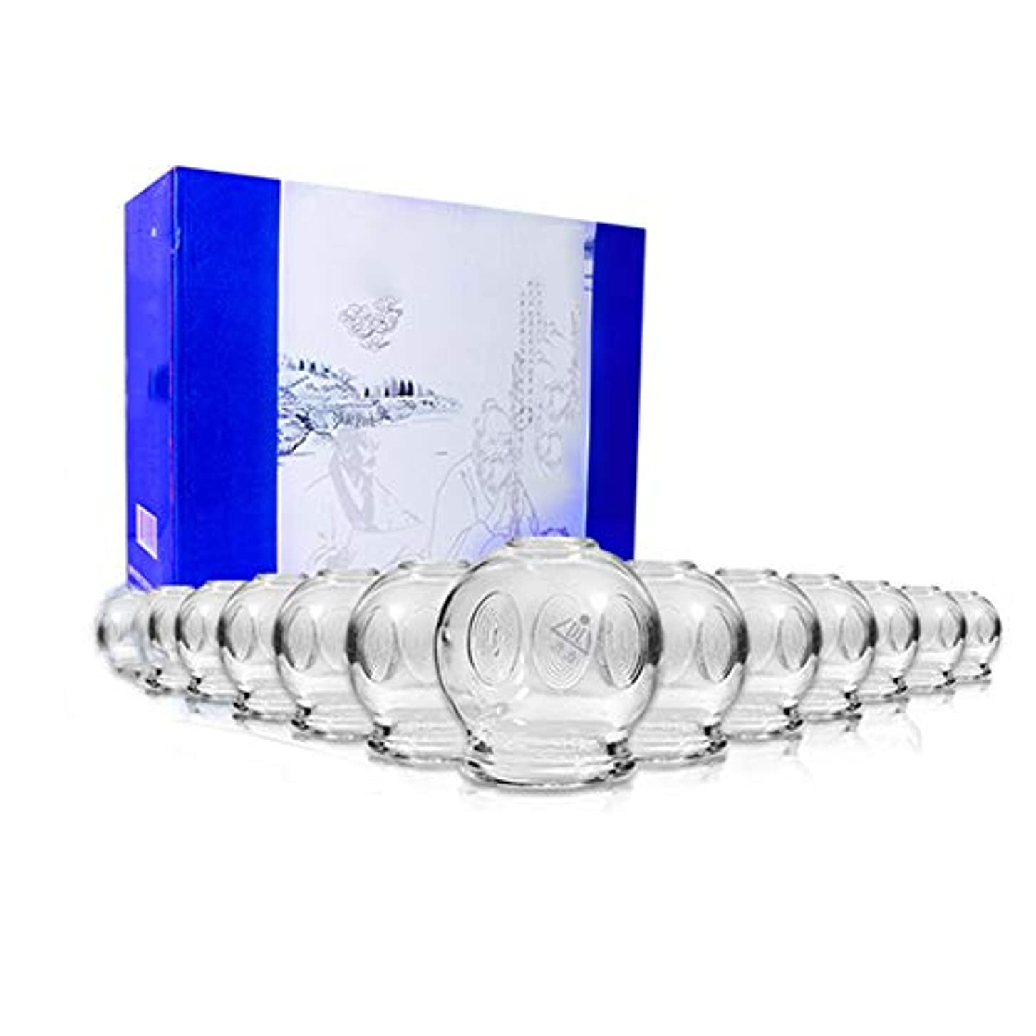 気分が良いなんでも散らすカッピングで吸引エステガラス製カッピングセット真空カッピング16缶厚くて耐久性があり、家庭で筋肉疲労を和らげるのに適しています。