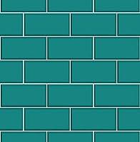 Fine Decor Fd40139 Luxury Teal Cermica Subway Brick Tile Effect Vinyl Wallpaper