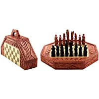 g6コレクションバリインドネシア木製ハンドメイドユニークチェスセットwith 32チェスピース手作り