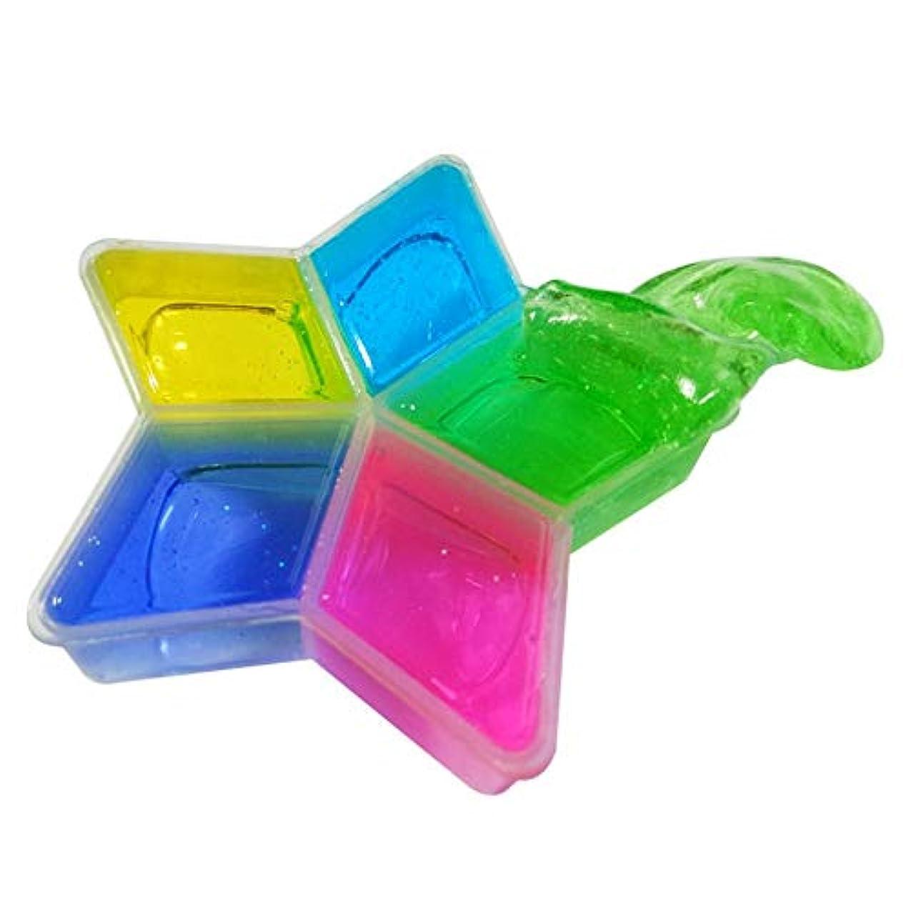 克服する延期する分泌するカラフルな非毒性5尖った星形クリスタル泥diy安全な環境子供子供クリスタル泥粘土のおもちゃ(Color:multi-color)