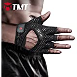 TMT Gym Gloves Heavyweight Sports Exercise Weight Lifting Gloves Breathable Body Building Training Sport Fitness Gloves