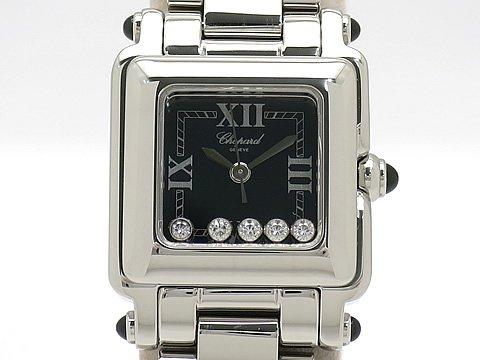 (ショパール)CHOPARD 腕時計 ショパール ハッピースポーツ スクエア ミニ5個ダイヤ 27 8893-23 SS 中古