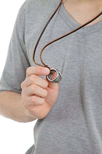 Essential(エッセンシャル)メンズアクセサリー レディースアクセサリー ユニセックスアクセサリー リング ネックレス リングネックレス リングペンダント レザー本革紐チェーン