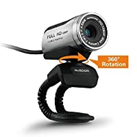 Ausdom Web Camera Full HD 1080P Webcam with Microphone Video Calling and Recording for Computer Laptop Desktop 360-Degree Swivel PC CamPlug and Play Web Cam [並行輸入品]