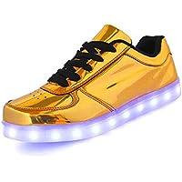 IGxx Flashing LED Light Up Shoes LED Sneaker Glowing Luminous USB Charging Unisex for Men Women Kids