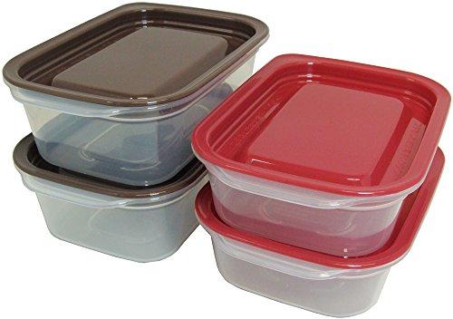 タニタ食堂おすすめ レンジ対応保存容器  KH-003-BR