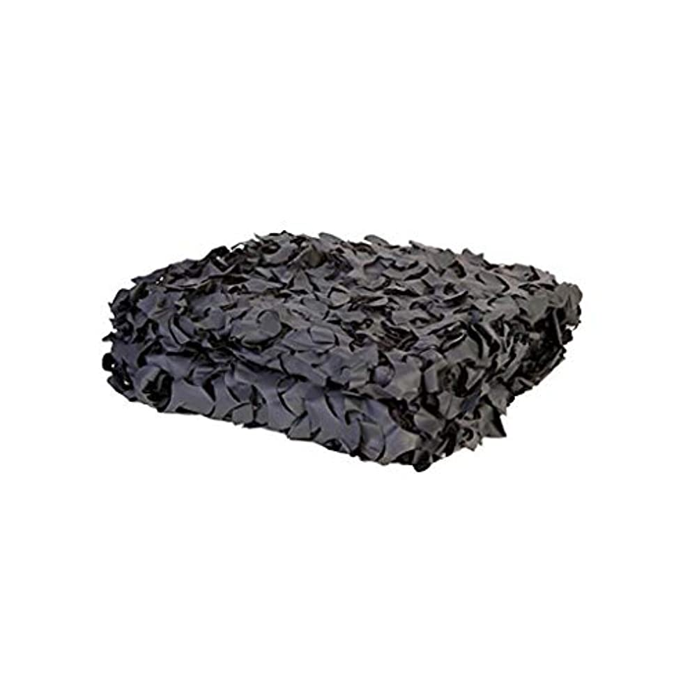 葉っぱ吐き出す滅びる純粋な黒のカモフラージュネットオックスフォードの布は、狩猟の撮影を厚くするために使用された隠しキャンプキャンプハロウィーン (サイズ さいず : 10m*10m)