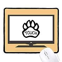 犬の足を引用して自作のデザイン マウスパッド・ノンスリップゴムパッドのゲーム事務所
