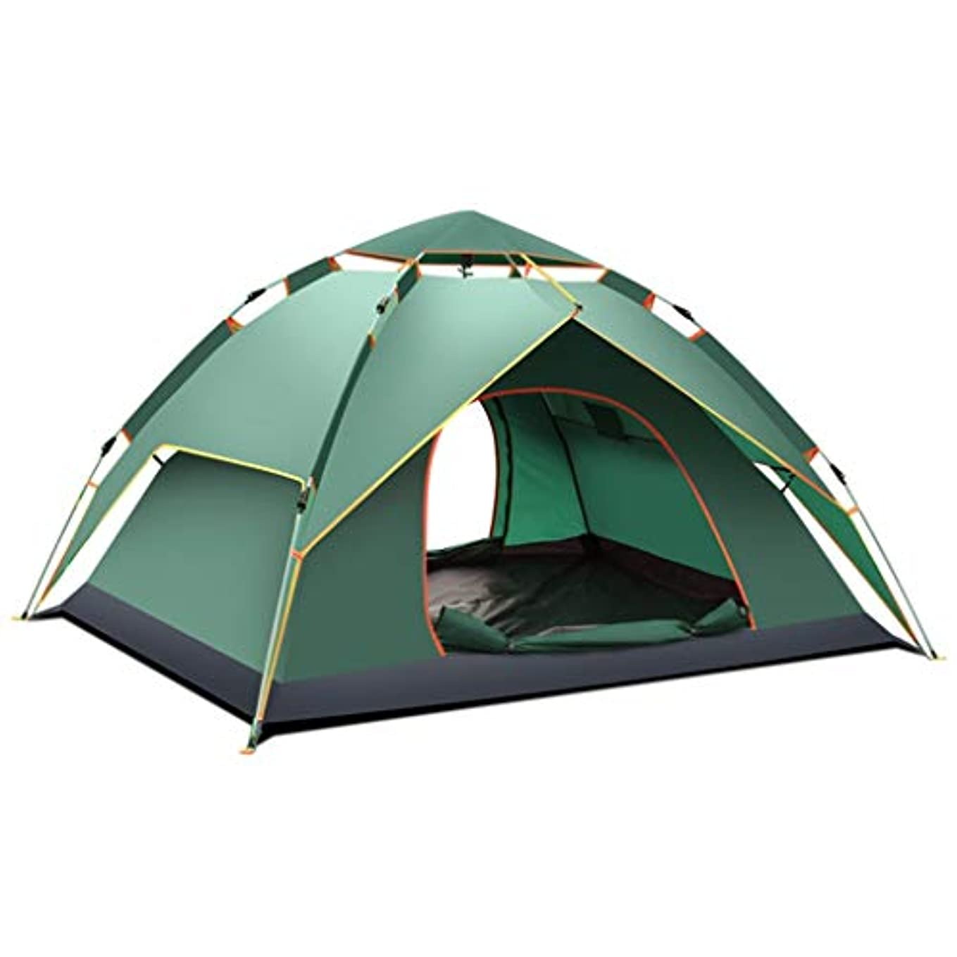 文化過半数修羅場LWT 屋外スポーツの大きい浜のおおい3-4人の耐雨性のテントをキャンプすること (Color : A)