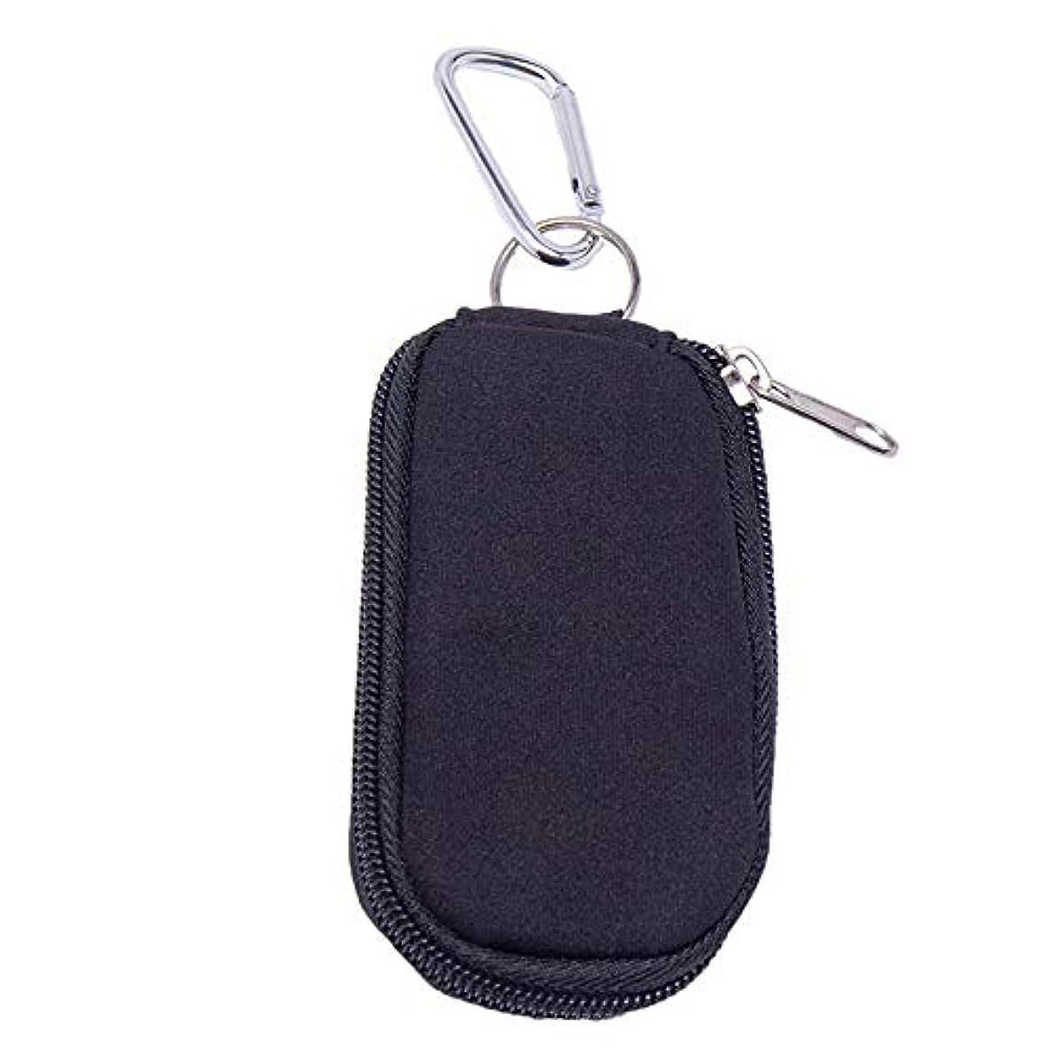 歪めるありがたいコック精油ケース 10のエッセンシャルオイルキャリングケースは、2ミリリットルボトルエッセンシャルオイルストレージバッグブラックを開催します 携帯便利 (色 : ブラック, サイズ : 11X6X1.5CM)
