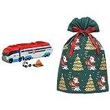 パウ・パトロール パウっと出動! パウパトローラー + インディゴ クリスマス ラッピング袋 グリーティングバッグ4L メリーサンタ ダークグリーン XG605