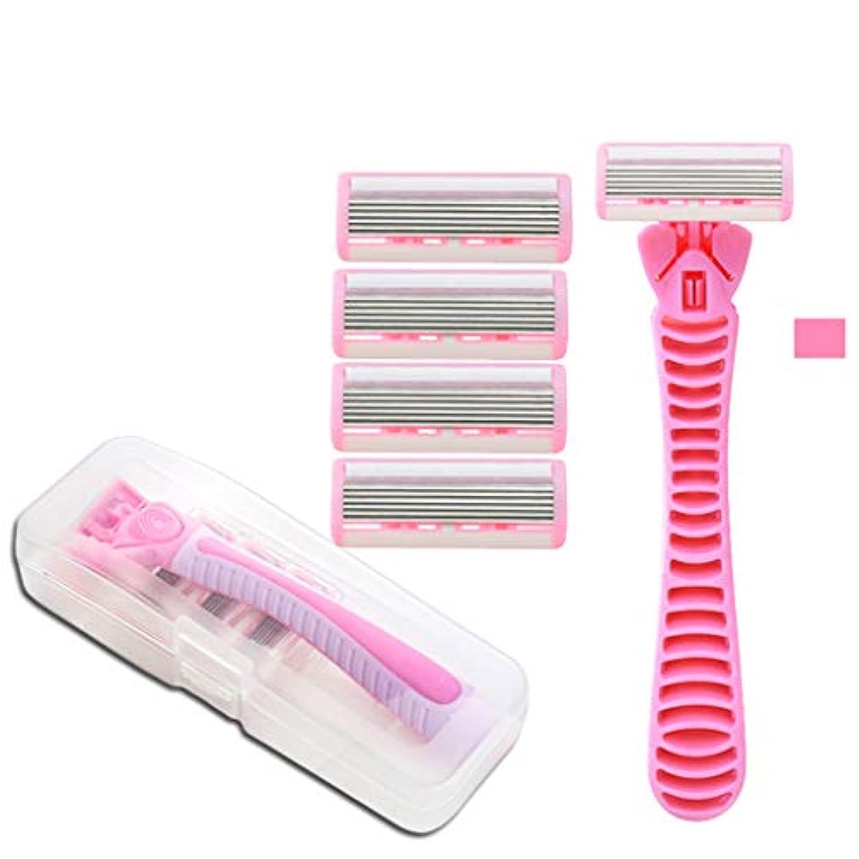 製造脳葉脇の下および足の根のために適した男女兼用シェービングナイフの女性の毛の取り外しのナイフ,Pink