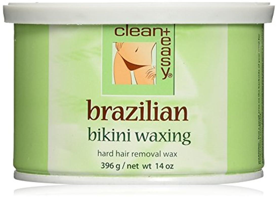 針実験妻Clean + Easy ハードワックス、ブラジル、 14オンス
