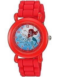 ディズニー ガールズ 'Ariel' クォーツ プラスチックとシリコン製 カジュアルウォッチ 色: レッド (モデル: WDS000017)